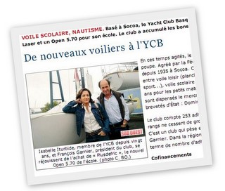 Article YCB sud ouest
